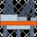 Rig Refinery Petroleum Icon
