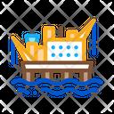Crane Sea Station Icon