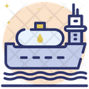 Oil Shipment Cargo Ship Oil Tanker Icon
