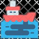 Oil Spill Ship Icon