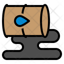 Oil Spill Disaster Environmental Pollution Icon