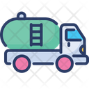 Oil Tanker Tank Truck Container Icon