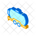 Oil Trailer Isometric Icon