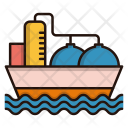 Oil Tanker Ship Icon