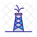 Petrochemical Oil Tower Icon
