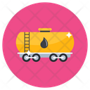 Oil Trailer Fuel Tanker Oil Container Icon