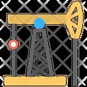 Oil Pumpjack Oil Refinery Oilfield Icon