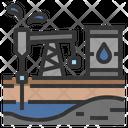 Oilfield Rig Petroleum Icon