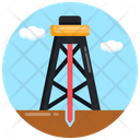 Oil Rig Drilling Rig Oilfield Rig Icon