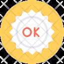 Ok Sticker Label Icon