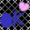 Ok Heart Love Icon