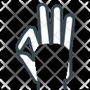 Ok Hand Gesture Icon