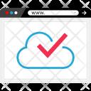 Ok Cloud Data Icon