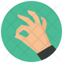 Ok Hand Sign Icon
