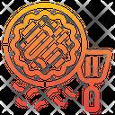 Okonomiyaki Japan Asian Food Icon