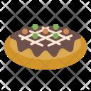 Okonomiyaki Pizza Food Icon