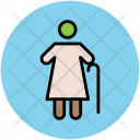 Old Age Woman Icon