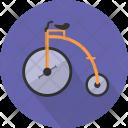 Old Bicycle Vehicle Icon