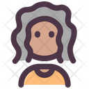 Old African Woman Icon