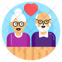 Old People Old Age Lovers Elderly Lovers Icon