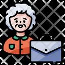 Old Businesswoman Icon