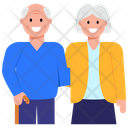 Elderly Couple Old Couple Old Spouse Icon