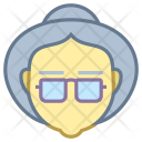 Old Woman Avatar Icon