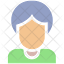 Old Lady Woman Avatar Icon
