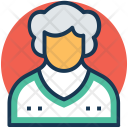 Old Lady Woman Icon
