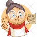 Old Lady Complaining Fir Icon