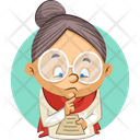 Old Lady Reading List Icon