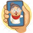 Old Lady With Face Filter Icon
