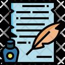 Old Law Scroll Oath Icon