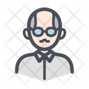 Old Man User Male Icon