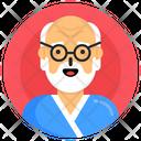 Elderly Man Old Man Oldster Icon