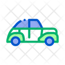 Old Round Model Car Icon