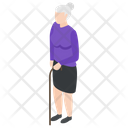 Old Woman Old Lady Grand Lady Icon