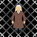 Old Woman Human Icon