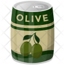 Olive Tin Preserved Icon