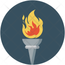 Olympic Torch Flame Icon