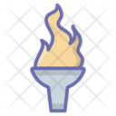 Olympic Flame Flambeau Burn Olympic Torch Icon