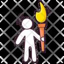 Olympics Torch Olympics Flame Peace Run Icon