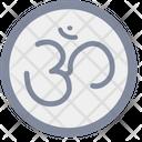 Om Chakra Hinduism Icon