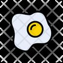 Omelette Yolk Egg Icon