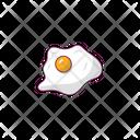 Omelette Egg Yolk Icon