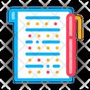 Examination Sheet Icon