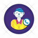 On Call Call Person Icon
