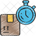 Timed Delivery Fast Sales Icon