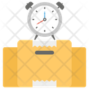Quick Service On Time Delivery Fast Shipment Icon