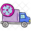 On Time Delivery Delivery Van Parcel Delivery Icon
